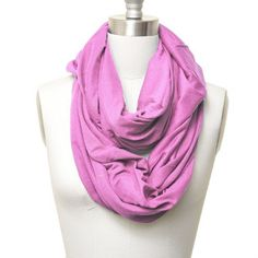 Solid Color Soft Jersey Eternity Scarf Violet Color by SpinningDaisy. $12.99. Trendy loop style scarf has silky feel and is  very warm. You can be creative with loop style scarf and this will be your must item for this winter.