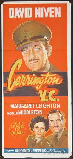 Court Martial (1954) Carrington V.C. (original title) Stars: David Niven, Margaret Leighton, Noelle Middleton, Allan Cuthbertson ~ (Nominated for 5 BAFTA Film Awards)  (Australian Daybill)