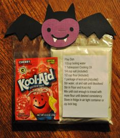 Kool-Aid play dough-Good to put together as a packaged gift for students to make at home