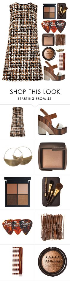 """""""Farmer's Tweed"""" by finding-0riginality ❤ liked on Polyvore featuring Dolce&Gabbana, Jimmy Choo, Lila Rice, Hourglass Cosmetics, Bobbi Brown Cosmetics, Mason Pearson and LORAC"""