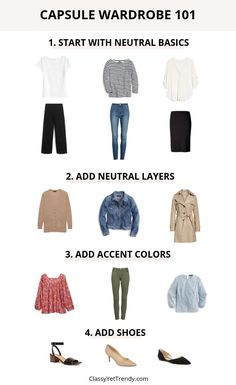 Capsule Wardrobe 101: What Is A Capsule Wardrobe? - Classy Yet Trendy - they help you to find your personal style, get dressed easily, love wearing your favorite clothes, have many outfit ideas and even help you get out of debt by changing your shopping habits! #capsulewardrobe #closet #organization #debtfree #outfitideas #outfitinspiration