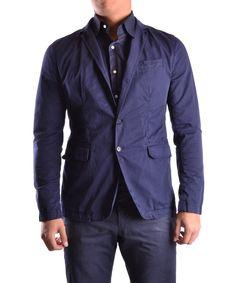 BIKKEMBERGS Bikkembergs Men'S Mcbi042067O Blue Cotton Blazer'. #bikkembergs #cloth #coats & jackets