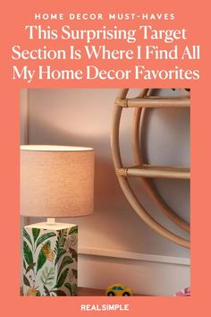 This Surprising Target Section Is Where I Find All My Home Decor Favorites | One RS Editor shares the one underlooked area at Target that contains countless must-have home decor pieces for every room of your home. It's affordable but chic enough for adults looking to liven up their space with color and fun home decor products. #homedecorideas #realsimple #decor #homeinspiration #detail