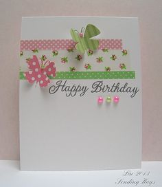 Birthday card with washi tape | Please visit my blog for det… | Flickr