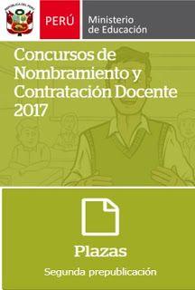Teresa Clotilde Ojeda Sánchez: Plazas vacantes para nombramiento docente 2017 a n...
