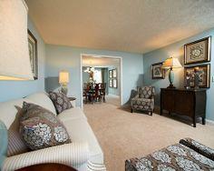Akron Medina OH Wilmington Model Living Room