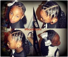 Mixed girls hairstyle, natural