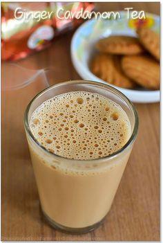 Ginger Cardamom Tea Recipe | How to make tea with milk | Sharmis Passions