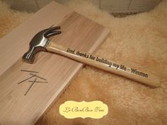 Personalized Hammer  Engraved Dad Gift or Wood by BonBonCrush