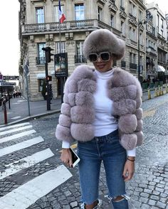 New Women Warm Real Fox Fur Coat Short Winter Fur Jacket Outerwear Natural Blue Fox Fur Coats for Women Hot Promotion New Women Warm Real Fox Fur Coat Short Winter Fur Jacket Outerwear Natural Blue Fox Fur Coats for Women Hot Women's Clothing Fox Fur Jacket, Fox Fur Coat, Winter Fashion Outfits, Fur Fashion, Outfit Invierno, Fur Bomber, Fur Clothing, Street Style Edgy, Glamour