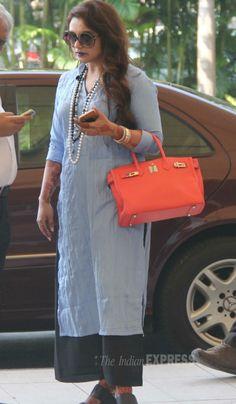 'Mardaani' actress Rani Mukerji spotted at the Mumbai airport. #Bollywood #Fashion #Style #Beauty