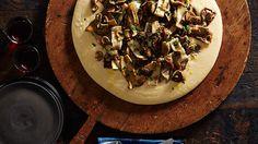 Mushroom ragù with soft polenta and taleggio