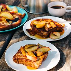 Brioche French Toast with Griddled Apples Brunch Recipes, New Recipes, Breakfast Recipes, Brunch Ideas, Diabetic Recipes, Breakfast Ideas, Brioche French Toast, Camping Meals, Camping Recipes