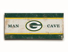 Green Bay Packers wood sign, Green Bay Packers wood plank, gift ideas, Packers fan, man cave decor, football gift, sports art by FineArtLab on Etsy