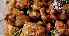 SAKIEWKI  ZE SCHABU  Z FARSZEM DUSZONE W SOSIE Kung Pao Chicken, Smoothies, Meat, Ethnic Recipes, Food, Beef, Meal, Essen, Smoothie