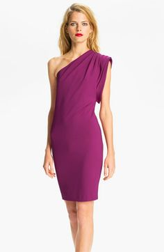 Ted Baker London One Shoulder Jersey Sheath Dress available at #Nordstrom