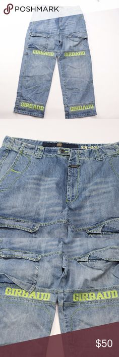 49b394b8 90s Girbaud Mens 40x34 Spell Out Baggy Jeans Vintage 90s Marithe Francois  Girbaud Blue Jeans Jeans