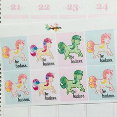 Q9 Full Box Quote Planner Stickers for Erin Condren, Day Designer, Filofax planners