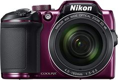 Buy Nikon Zoom Bridge Camera - Plum at Argos. Thousands of products for same day delivery or fast store collection. Canon Kamera, Photo Univers, Camera Aesthetic, Bluetooth, Full Hd 1080p, Cmos Sensor, Nikon Coolpix, Colors, Flashcard