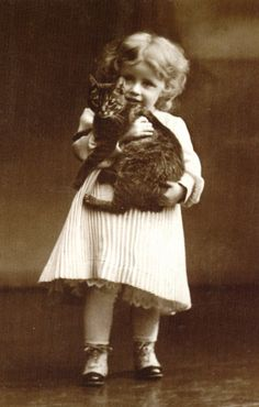 Vintage Cats and People