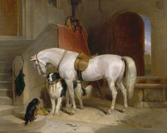 Favourites, the Property of H.R.H. Prince George of Cambridge, 1834-1835 .  by Sir Edwin Henry Landseer   (Yale Center for British Art, New Haven, CT)