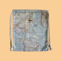 Mochila Mapamundi. www.smartyfun.es #mochila #mapamundi