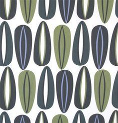 Fifties Grön fabric - Kinnamark. Designer: Ann Hjers