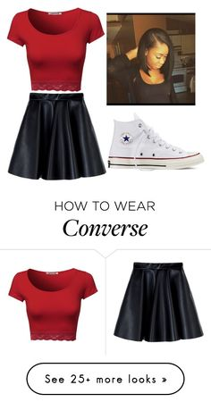 """Untitled #290"" by hopecobb on Polyvore featuring MSGM and Converse"