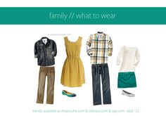 family what to wear september... this is super cute!  Mom would need a shrug tho.