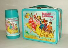 1960's Aladdin Bedknobs and Broomsticks Metal Lunchbox with Thermos |