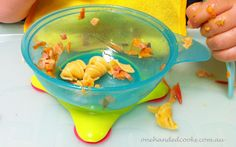 one handed cooks: baby & toddler food products: fancy new suction bowl #babyfood #toddlerfood #onehandedcooks