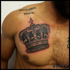 #crown #tattoo #royal #headwear #fleurdelys #king #queen #guivy #artforsinners #geneve #tatouage
