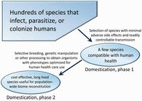 Evolutionary biology and anthropology suggest biome reconstitution as a necessary approach toward dealing with immune disorders
