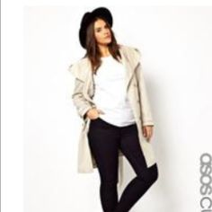 ASOS Curve lightweight trench coat ASOS Curve lightweight hooded trench coat-- worn once! Very cute and stylish. Tan... Brown buttons. With hood and belt. All button intact... From pet free/smoke free home. ASOS Jackets & Coats Trench Coats