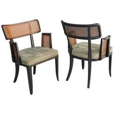 Set of Ten Edward Wormley for Dunbar Dining Chairs