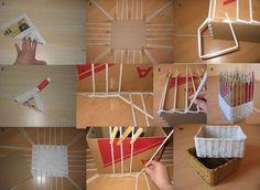 Mandje van rolletjes papier