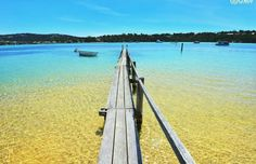 Merimbula Lake in Merimbula, Sapphire Coast NSW. Merimbula like much of the South Coast is place that has a wow factor. Australia Holidays, Clean Beach, Coast Australia, East Coast, Countryside, Travel Destinations, Coastal, Beautiful Places, Sapphire