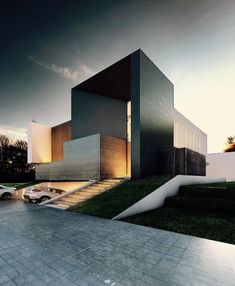 14 Impressive Modern Minimalist Home Architecture Design Idea For Your Home 4 Architecture Design, Modern Architecture House, Facade Design, Residential Architecture, Modern House Design, Exterior Design, Pavilion Architecture, Sustainable Architecture, Casas Containers