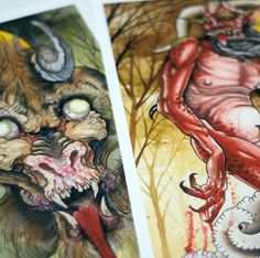 Get em both!Printed by Rebel Reprints on acid freearchival textured paper and with top of the linearchival ink and finishing.Prints come in a heavy kraft tube with stickers. Jeff Gogue, E Tattoo, Watercolor Print, Paper Texture, Rebel, Ink, Stickers, Printed, Painting
