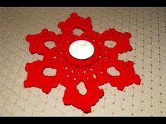 Portacandela all'uncinetto - Crochet candle holder - YouTube