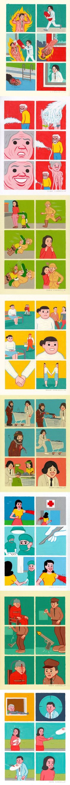 A compilation of Joan Cornella comics: Part 3