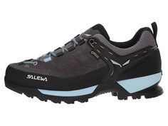 SALEWA Mountain Trainer GTX Women's Shoes Charcoal/Blue Fog Camping Outfits For Women, Trainers, Charcoal, Clothes For Women, Women's Shoes, Sneakers, Mountain, Blue, Free Shipping