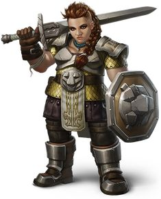 female dwarf warrior, RPG, D&D, DnD, fantasy character, concept art, great hair style, outfit n more!