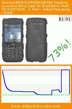 Asmyna BB9100HPCDMS003NP Dazzling Luxurious Bling Case for BlackBerry Pearl 3G 9100/9105 - 1 Pack - Retail Packaging - Black (Wireless Phone Accessory). Drop 73%! Current price $1.91, the previous price was $7.14. http://www.adquisitio-usa.com/asmyna/bb9100hpcdms003np