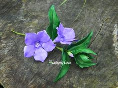 Sugar Gum paste Periwinkle (Vinca Minor) Wedding cake Birthday cake flower topper