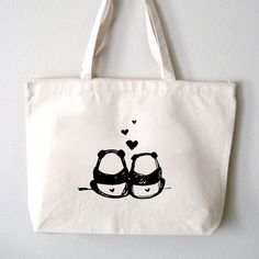 "Image of ""Panda Bums"" Tote Bag"