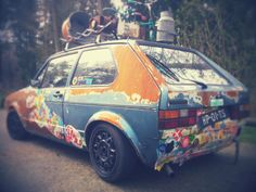 ratlook Volkswagen Golf Mk1, Vw Mk1, Vw Rat Rod, Rat Look, Sticker Bomb, Cool Stickers, Car Wrap, Cool Bikes, Rats