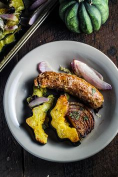 Roast acorn squash, Sausage and Onions / by Katie at the Kitchen Door
