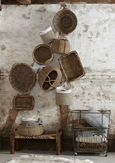 """plumes-feathers: """" Hubsch Interior Basket Collection 2013 """""""