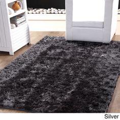 Affinity Soft Plush Textured Silken Shag Rug (5' x 8')